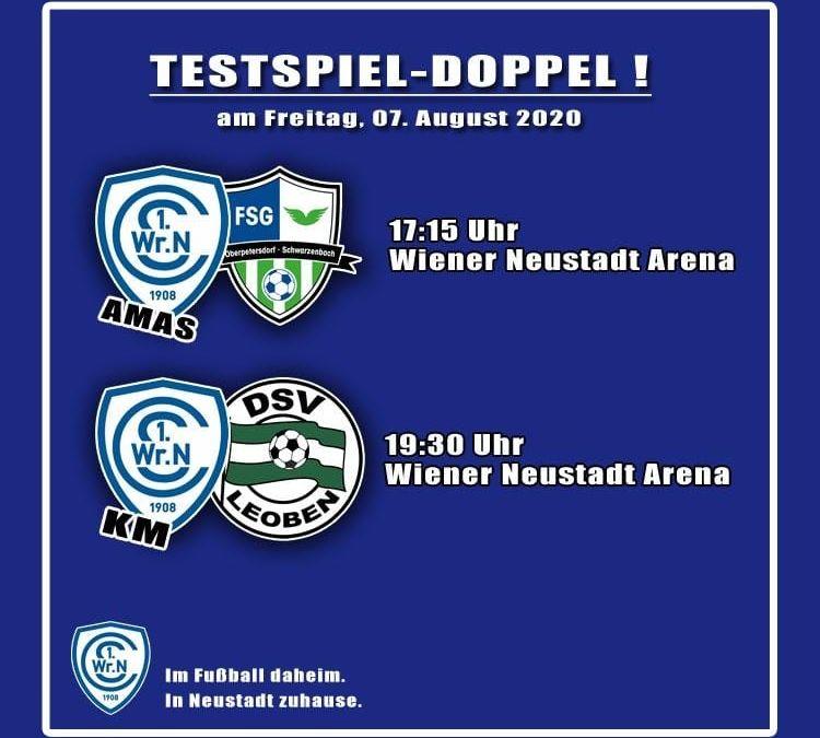 Testspiel-Doppel am 07.08.2020 in der Wiener Neustadt Arena