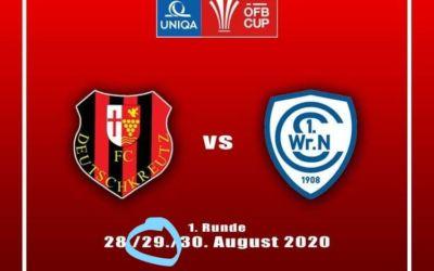 UPDATE: Cup-Spiel gegen Deutschkreutz coronabedingt abgesagt!