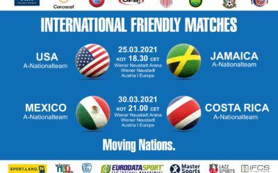 Internationale Testspiele in der Wiener Neustadt Arena im März 2021
