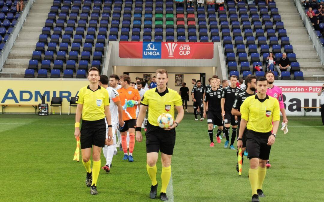 UNIQA ÖFB Cup – 1:5 Niederlage gegen den Bundesligisten nach ansprechender Leistung